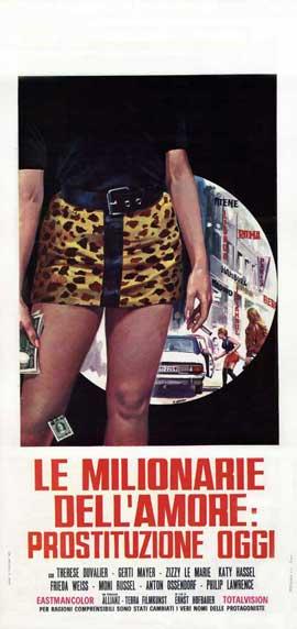 Le Milionarie dell'Amore: Prostituzione Oggi - 13 x 28 Movie Poster - Italian Style A