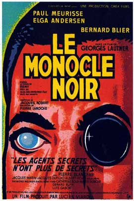 The Black Monocle - 11 x 17 Movie Poster - French Style A