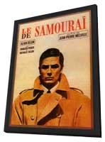 Le Samourai - 27 x 40 Movie Poster - French Style A - in Deluxe Wood Frame