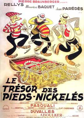 Le tresor des Pieds-Nickeles - 11 x 17 Movie Poster - French Style A