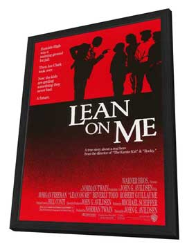 Lean on Me - 11 x 17 Movie Poster - Style A - in Deluxe Wood Frame