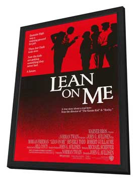 Lean on Me - 27 x 40 Movie Poster - Style A - in Deluxe Wood Frame