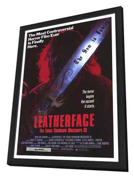 Leatherface: The Texas Chainsaw Massacre 3 - 27 x 40 Movie Poster - Style A - in Deluxe Wood Frame