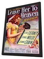 Leave Her to Heaven - 11 x 17 Movie Poster - Style A - in Deluxe Wood Frame