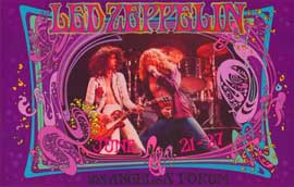 Led Zeppelin - 11 x 17 Music Poster - Style D