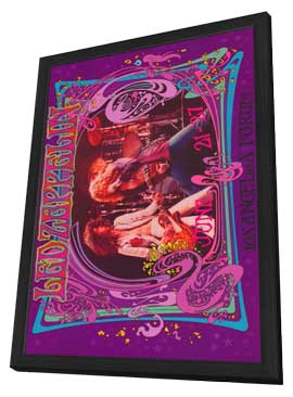 Led Zeppelin - 11 x 17 Music Poster - Style D - in Deluxe Wood Frame