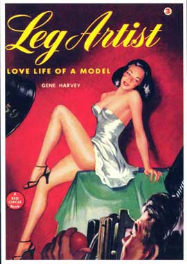 Leg Artist - 11 x 17 Retro Book Cover Poster