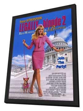 Legally Blonde 2: Red, White & Blonde - 27 x 40 Movie Poster - Style A - in Deluxe Wood Frame