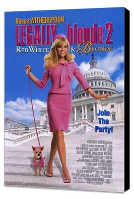 Legally Blonde 2: Red, White & Blonde - 27 x 40 Movie Poster - Style A - Museum Wrapped Canvas
