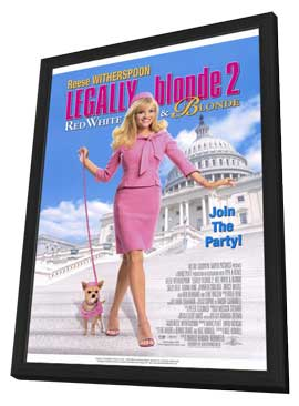 Legally Blonde 2: Red, White & Blonde - 11 x 17 Movie Poster - Style A - in Deluxe Wood Frame