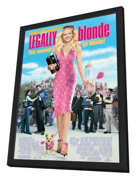 Legally Blonde - 27 x 40 Movie Poster - Style A - in Deluxe Wood Frame