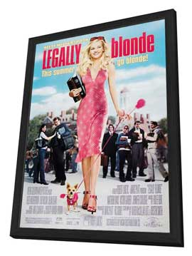 Legally Blonde - 27 x 40 Movie Poster - Style C - in Deluxe Wood Frame