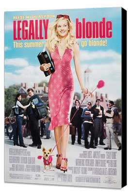 Legally Blonde - 27 x 40 Movie Poster - Style C - Museum Wrapped Canvas