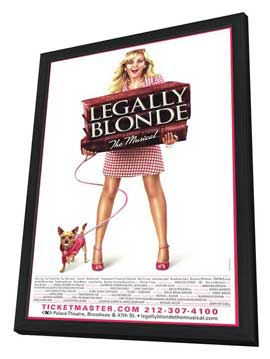 Legally Blonde The Musical (Broadway) - 27 x 40 Poster - Style A - in Deluxe Wood Frame