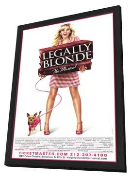 Legally Blonde The Musical (Broadway) - 11 x 17 Poster - Style A - in Deluxe Wood Frame