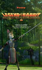 Legend of a Rabbit - 11 x 17 Movie Poster - Style B