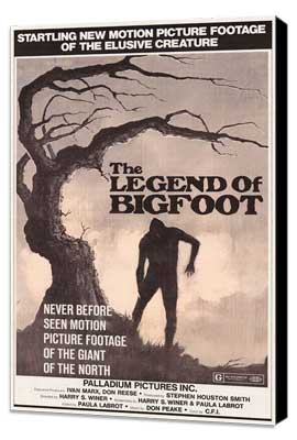 Legend of Bigfoot - 11 x 17 Movie Poster - Style A - Museum Wrapped Canvas