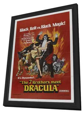 Legend of the 7 Golden Vampires - 11 x 17 Movie Poster - Style B - in Deluxe Wood Frame