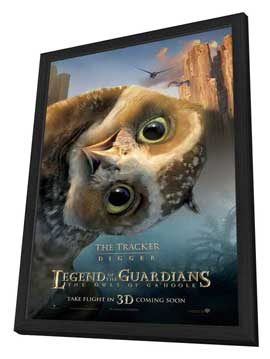 Legend of the Guardians: The Owls of Ga'Hoole - 11 x 17 Movie Poster - UK Style H - in Deluxe Wood Frame