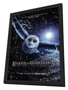 Legend of the Guardians: The Owls of Ga'Hoole - 27 x 40 Movie Poster - Style C - in Deluxe Wood Frame