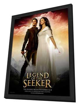 Legend of the Seeker (TV) - 11 x 17 TV Poster - Style B - in Deluxe Wood Frame
