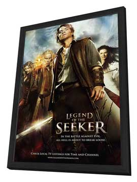 Legend of the Seeker (TV) - 11 x 17 TV Poster - Style D - in Deluxe Wood Frame