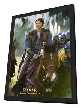 Legend of the Seeker (TV) - 27 x 40 TV Poster - Style B - in Deluxe Wood Frame