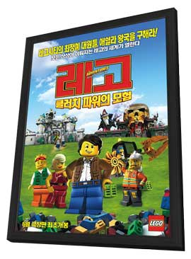 Lego: The Adventures of Clutch Powers - 11 x 17 Movie Poster - Korean Style C - in Deluxe Wood Frame