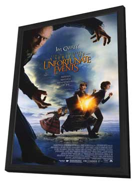 Lemony Snicket's A Series of Unfortunate Events - 27 x 40 Movie Poster - Style B - in Deluxe Wood Frame