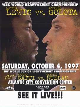 Lennox Lewis vs Andrew Golota - 11 x 17 Boxing Promo Poster - Style A