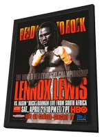 Lennox Lewis Vs. Hasim Rock Rahman - 11 x 17 Boxing Promo Poster - Style A - in Deluxe Wood Frame