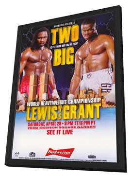 Lennox Lewis Vs. Michael Grant - 11 x 17 Boxing Promo Poster - Style A - in Deluxe Wood Frame