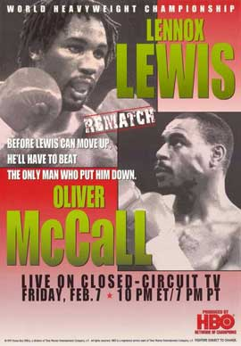 Lennox Lewis vs Oliver McCall - 11 x 17 Boxing Promo Poster - Style A