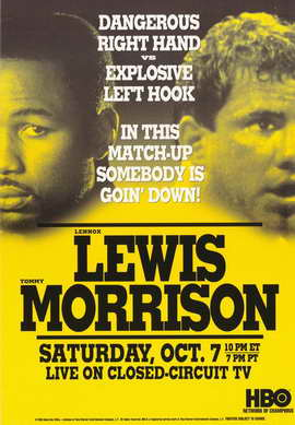 Lennox Lewis Vs. Tommy Morrison - 11 x 17 Boxing Promo Poster - Style A