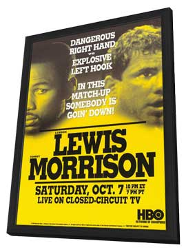 Lennox Lewis Vs. Tommy Morrison - 11 x 17 Boxing Promo Poster - Style A - in Deluxe Wood Frame