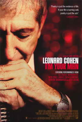 Leonard Cohen I'm Your Man - 27 x 40 Movie Poster - Style A