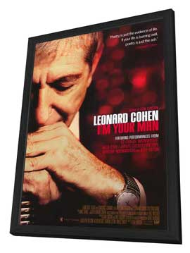 Leonard Cohen I'm Your Man - 27 x 40 Movie Poster - Style A - in Deluxe Wood Frame