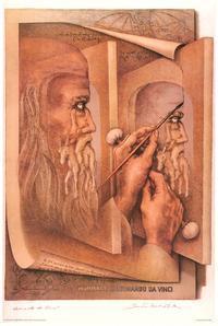 Leonardo Da Vinci - Art Poster - 24 x 36 - Style A