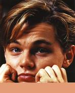 Leonardo DiCaprio - Leonardo Dicaprio Close Up Portrait with Both Hands on Chin