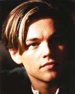 Leonardo DiCaprio - Leonardo Dicaprio Close Up Portrait in Black Background
