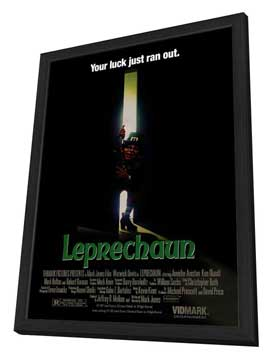 Leprechaun - 27 x 40 Movie Poster - Style A - in Deluxe Wood Frame