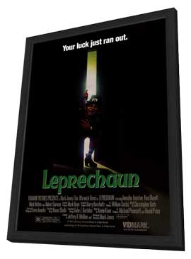 Leprechaun - 11 x 17 Movie Poster - Style A - in Deluxe Wood Frame