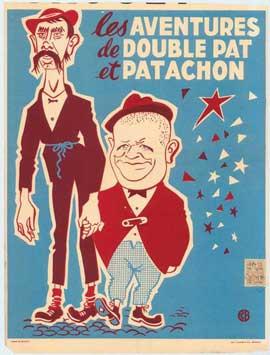 les aventures de double pat et patachon - 11 x 17 Movie Poster - Belgian Style A