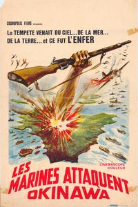 les marines attaquent okinawa - 27 x 40 Movie Poster - Belgian Style A