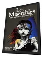 Les Miserables (Broadway) - 27 x 40 Movie Poster - Style A - in Deluxe Wood Frame