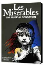 Les Miserables (Broadway) - 11 x 17 Movie Poster - Style A - Museum Wrapped Canvas