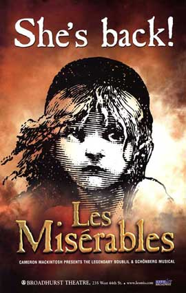 Les Miserables (Broadway) - 27 x 40 Poster - Style A