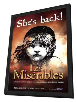 Les Miserables (Broadway) - 27 x 40 Poster - Style A - in Deluxe Wood Frame