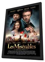 Les Miserables - 27 x 40 Movie Poster - Style H - in Deluxe Wood Frame