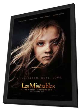 Les Miserables - 27 x 40 Movie Poster - Style A - in Deluxe Wood Frame